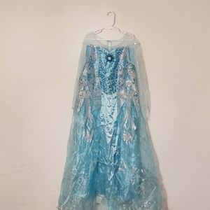 Disney Elsa Frozen dress crown, NWT flaw, M (7-8)